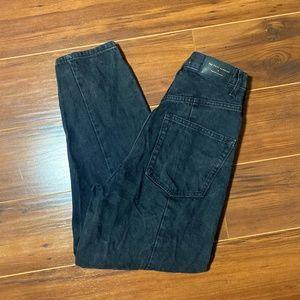 Zara The Petit Slouchy Black Jeans